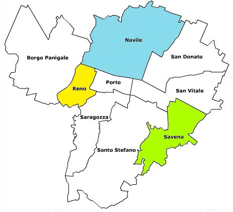Mappa quartieri